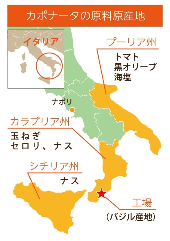 カポナータの原料原産地