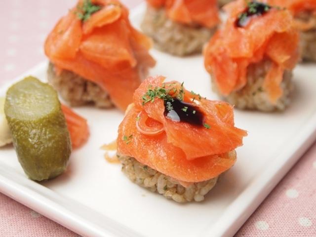 オーシャントラウトのバルサミコ寿司