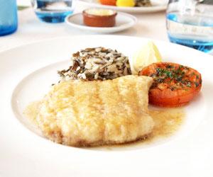 白身魚のバターソテー