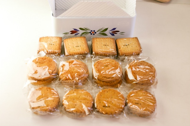 中身は個別包装されたクッキー合計40枚
