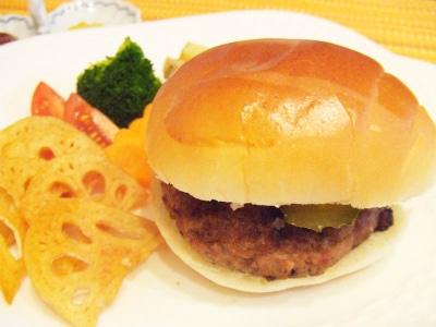 贅沢なハンバーガー